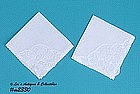 TWO BRUSSELS LACE HANDKERCHIEFS