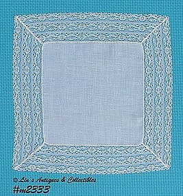 WEDDING HANDKERCHIEF WITH LACE
