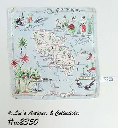 SOUVENIR HANDKERCHIEF, MARTINIQUE