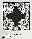 BLACK HANDKERCHIEF WITH WHITE DOGWOOD