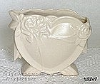 McCOY POTTERY -- HEART VASE (WHITE)
