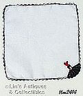 HANDKERCHIEF, WHITE WITH CROCHET SOUTHERN BELLE