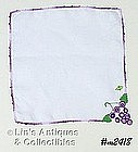 IRISH LINEN HANKY, WHITE WITH CROCHET GRAPE CLUSTER