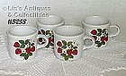 McCOY POTTERY -- 4 STRAWBERRY COUNTRY CUPS