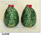 LEFTON -- GREEN HOLLY SHAKER SET