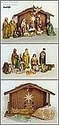 16 PIECE HAND PAINTED NATIVITY SET