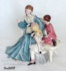 """FLORENCE CERAMICS -- """"STORY HOUR"""" WITH BOY AND GIRL"""