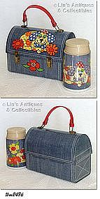 """DENIM DINER"" DOME LUNCH BOX WITH THERMOS"