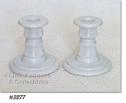 McCOY POTTERY -- STRAWBERRY COUNTRY CANDLEHOLDERS
