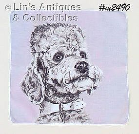 HANDKERCHIEF WITH POODLE