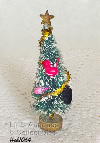 "DECORATED BRUSH TREE (4 1/2"")"