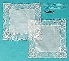 TWO BEAUTIFUL WEDDING HANDKERCHIEFS