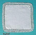 WHITE HANDKERCHIEF WITH WHITE CROCHET