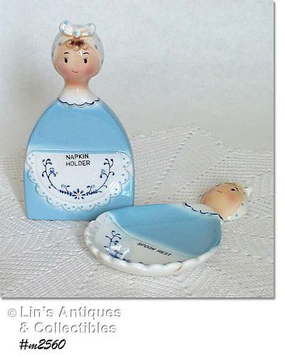 DAVAR -- SPOON REST AND NAPKIN HOLDER (DATED 1966)
