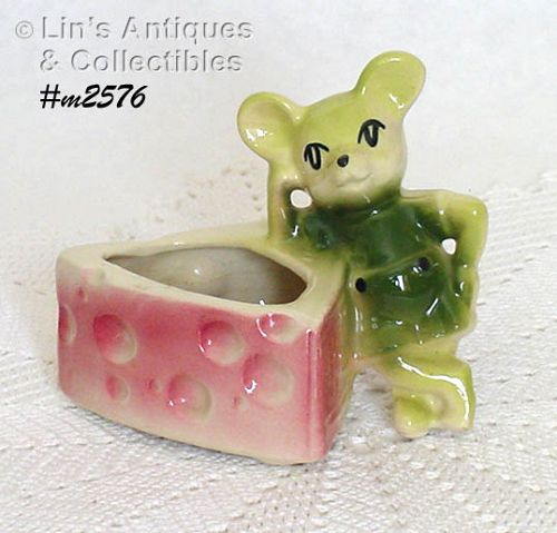 SHAWNEE POTTERY -- MOUSE WITH CHEESE PLANTER