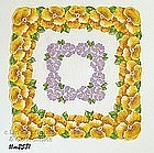 YELLOW ORCHIDS VINTAGE HANDKERCHIEF