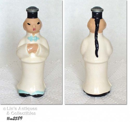 CLEMINSON POTTERY -- CHINAMAN LAUNDRY SPRINKLER