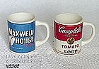McCOY POTTERY -- MAXWELL HOUSE AND CAMPBELL'S CUPS