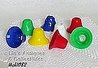8 PLASTIC BELL SHAPED LIGHT COVERS / SHADES