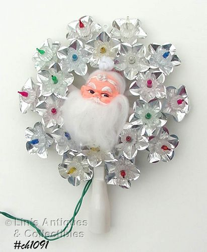 20 LIGHT SANTA TREE TOPPER
