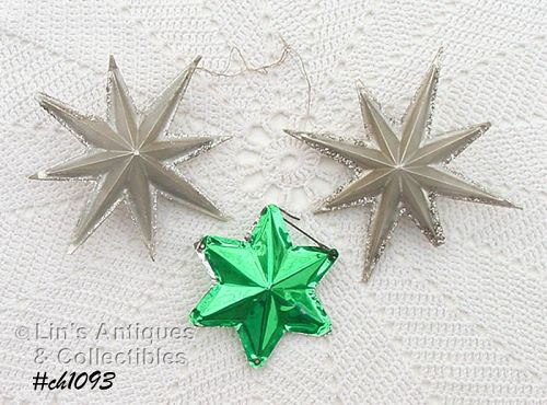 THREE STAR SHAPED ORNAMENTS