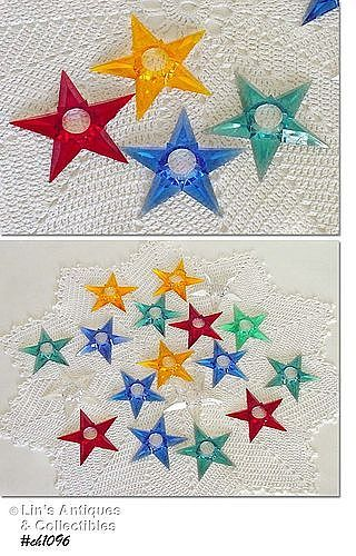 STAR SHAPED CHRISTMAS TREE LIGHT REFLECTORS
