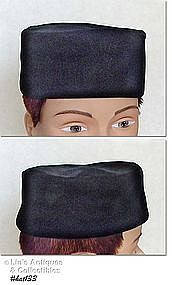 BLACK VELVET PILL BOX HAT