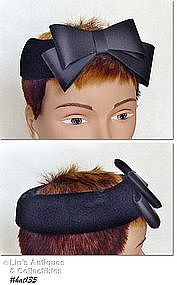 BLACK VELVET BAND (OR CAGE) STYLE HAT