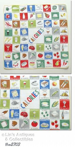 """COUNTING CALORIES"" HANDKERCHIEF"