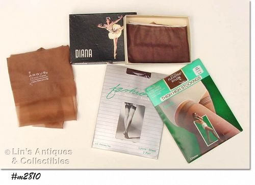 5 PAIRS NYLONS/STOCKINGS (ARGUS, GAYMODE)