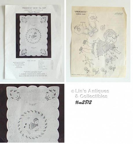 PROGRESS #1529 VINTAGE BABY QUILT KIT �SWEET DREAMS�