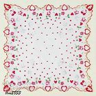HEARTS, FLOWERS, CUPIDS, AND DOVES HANKY