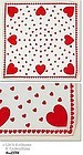 RED HEARTS VALENTINE HANDKERCHIEF