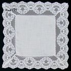 WEDDING HANKY WITH WIDE LACE EDGE