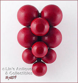 RED �BERRIES� OR GRAPES FUR CLIP