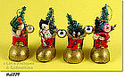 CARDBOARD STOCKING / BOOTS ORNAMENTS (4)