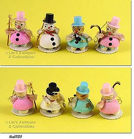 4 SNOWMEN ORNAMENTS