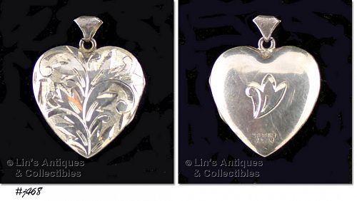 STERLING HEART LOCKET