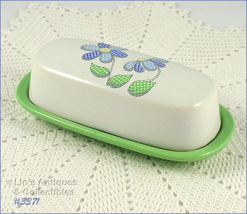 McCOY POTTERY � DAISY DELIGHT BUTTER DISH