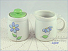 McCOY POTTERY � DAISY DELIGHT CREAMER AND SUGAR