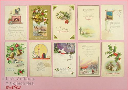 LOT OF 10 CHRISTMAS POST CARDS