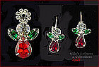EISENBERG ICE � CHRISTMAS ANGEL PIN AND EARRINGS