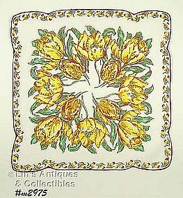 BEAUTIFUL YELLOW TULIPS HANDKERCHIEF