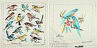 PAIR OF BIRD HANKIES DESIGNED IN AUSTRALIA BY HEIL