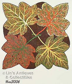 HANDKERCHIEF WITH FOUR LARGE LEAVES