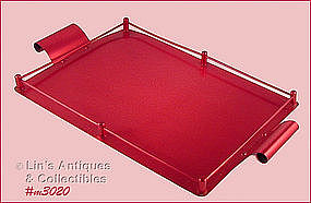ALUMINUMWARE � RED SERVING TRAY