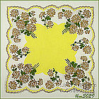 BEAUTIFUL HANDKERCHIEF WITH GOLD COLOR ACCENTS
