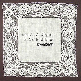 LINEN AND LACE WEDDING HANDKERCHIEF
