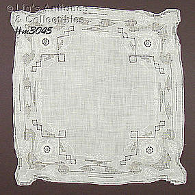 FANCY WHITE WEDDING HANDKERCHIEF