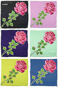 6 SINGLE ROSE HANDKERCHIEFS